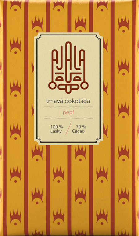 Ajala 70% Cocoa Organic Dark Chocolate with black pepper