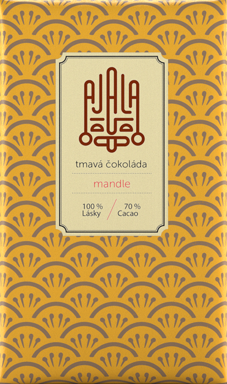 Ajala 70% Cocoa Organic Dark Chocolate with almonds